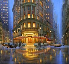 If you love cities as much as Russian artist Alexei Butirskiy, then you& appreciate his elegant cityscape paintings – almost always depicting urban life as the sun dips below the horizon and bathes the. City Art, Photo Lovers, City Painting, Summer Rain, Manet, Gotham, Oeuvre D'art, Les Oeuvres, Aesthetic Wallpapers