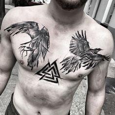 Inez Janiak Raven tattoo