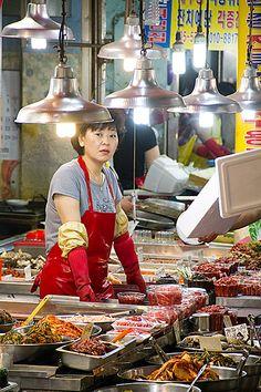 Bujeon Market Town Busan Korea