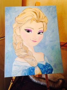Items similar to Let it Go Frozen Elsa Painting on Etsy Diy Painting, Painting Canvas, Frozen Painting, Tulip Painting, Beginner Painting, Disney Love, Disney Art, Frozen Movie, Frozen Party