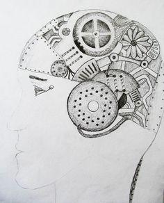 Výsledek obrázku pro vytvarka portret Compass Tattoo, Hana, Robot, Portrait, Smile, Hampers, Headshot Photography, Portrait Paintings, Robots
