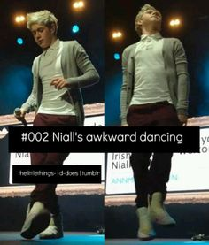 It's not an awkward dance it's Irish step dance and as an Irish dancer I love when he does it and find it absolutely adorable and sexxiii ;)