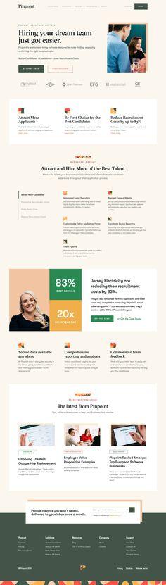 Pinpoint landing page design inspiration - Lapa Ninja Ninja, Corporate Design, New Job Vacancies, Creative Web Design, Design Web, Flat Design, Landing Page Design, Web Layout, Email Design