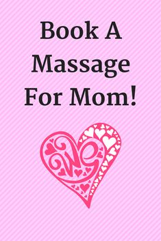 Book a massage for Mom! #mothersday #giftidea