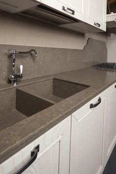 Quartzforms kitchen top Veined deco