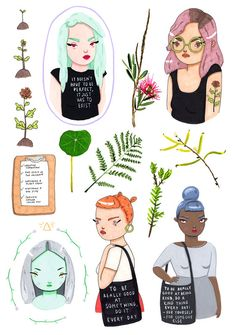 sticker sheet it doesn't have to be perfect by GemmaFlack on Etsy // $5