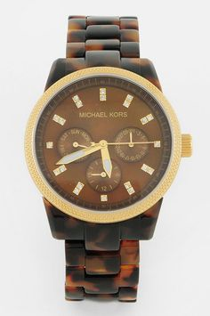edba4f54666d Michael Kors Watches   tortoise link watch....I WANT THIS SO BAD