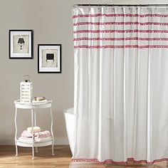 Lush Decor Aria Pom Shower Curtain 72 x 72 inches Pink *** You can get additional details at the image link. Note:It is Affiliate Link to Amazon.