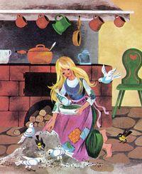 Diese Einzelausgabe des Märchens Aschenputtel, illustriert von Gisela Gottschlich, erschien 1980 im Pestalozzi-Verlag, in der Reihe Pevau-Büchlein. Später wurden Gottschlichs Illustrationen immer wieder für verschiedene Sammelbände des Pestalozzi-Verlages verwendet.