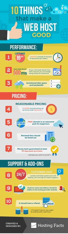 What Makes A Web Hosting Good? #infographic #Business #WebHosting