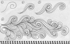 Luann kessi: sketch bookswirl designs zentangle how-to Zentangle Drawings, Doodles Zentangles, Doodle Drawings, Doodle Art, Doodle Sketch, Tangle Doodle, Tangle Art, Doodle Patterns, Zentangle Patterns