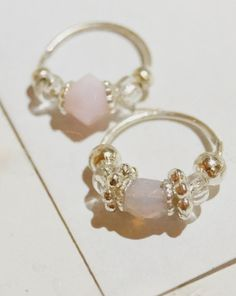 Nose Ring, Nose Jewel, Pinkish beauty. Silver! 20 gauge Septum, Nostril, Piercing Jewel for You! SMALL! on Etsy, $12.18