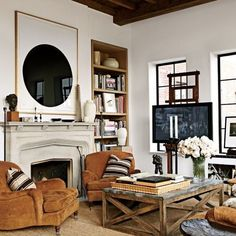 Design A TV Room That Doesnu0027t Look Like One Using These Tricks. Rustic Living  RoomsLiving ...