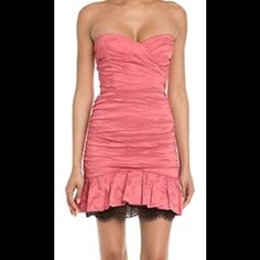"""Brand New BCBGMAXAZRIA Prom Dress size 0 and 4 I unfortunately don't have a pic of the actual dress as the moment but working on it. If you make an offer or """"like"""" this photo  I'll be sure to tag you as soon as the dress comes available. The dress is almost identical except it has straps . You could easily tuck the straps in to make it look like this dress! ❤️❤️ I have size 0 and size 4 BCBGMaxAzria Dresses Prom"""