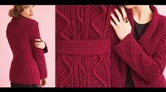 knitting cardigan patterns for women - YouTube