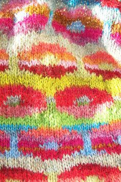 colorful knitting.