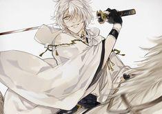Tags: Anime, Pixiv Id 1499776, Touken Ranbu, Tsurumaru Kuninaga, Wide Sleeves, Riding, White Outerwear