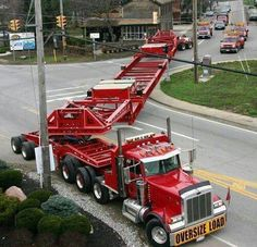 Oversized load runs the road.