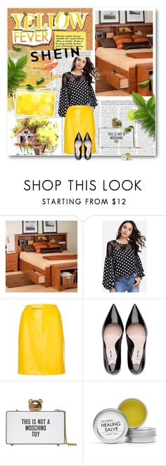 """""""polka dot top"""" by belma-bella ❤ liked on Polyvore featuring Prepac, Ralph Lauren Collection, Moschino and Fig+Yarrow"""