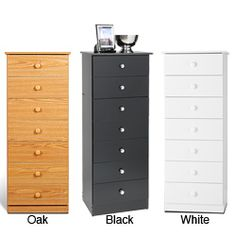 @Overstock - Enhance your home with the versatile style of this seven-drawer chestSimple, sleek chest features seven drawers and is available in your choice of a black, white, or oak finishBedroom furniture is constructed of laminated composite boardhttp://www.overstock.com/Home-Garden/Seven-drawer-Chest/617409/product.html?CID=214117 $124.99