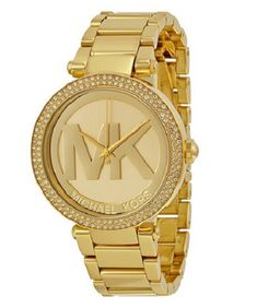 1fb1d8f5dc25 Michael Kors Women s Parker Gold-Tone Stainless Steel Bracelet Watch 39mm  MK5784 Dial window material