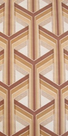 wall-quilt idea -  '70s wallpaper - 3D piecework design - maybe in Amish colors?