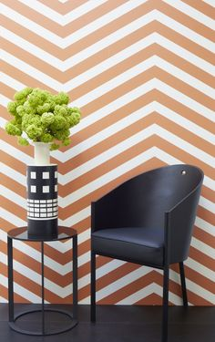 Chevron Stripes in Burnt Mandarin from the Greg Natalie Collection