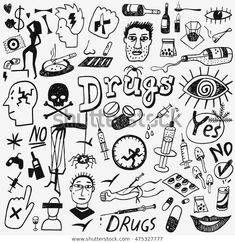 Find Drugs Doodles stock images in HD and millions of other royalty-free stock photos, illustrations and vectors in the Shutterstock collection. Thousands of new, high-quality pictures added every day. Kritzelei Tattoo, Doodle Tattoo, Doodle Art, Hipster Drawings, Trippy Drawings, Easy Drawings, Couple Drawings, Pencil Drawings, Tattoo Design Drawings