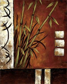 Tangletown Fine Art Russet Silhouette II by Krista Sewell Giclee Print on Gallery Wrap Canvas, 32 Diy Canvas Art, Abstract Canvas, Three Piece Wall Art, Decoupage, Acrylic Painting Lessons, Arte Floral, Indian Paintings, Antique Decor, Find Art