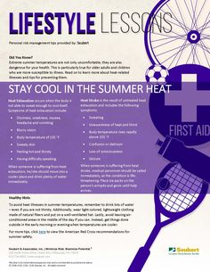 Lifestyle Lessons: Stay Cool in the Summer Heat
