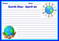 This Earth Day creative writing worksheets also includes a matching 5 page bulletin board display banner.