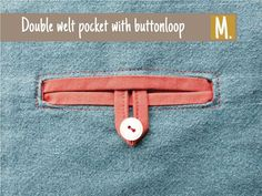 how to add a double welt pocket with button loop to a garment.. #sewingtutorials #compagniem #ninaskirt