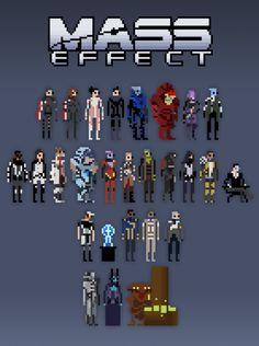 Mass Effect Pixels - by Matt Marblo Tumblr || Blog || deviantART || Twitter