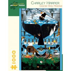 Charley Harper Glacier Bay Jigsaw  Glacier Bay, Alaska, was originally created for the Glacier Bay National Park, one of ten posters Harper was commissioned to create for the National Park Service.  Thoughtfully conceived and engagingly intricate, this 1,000 piece jigsaw combines superb colour reproduction and stunning images that will delight all ages.  Puzzle size - 51 x 74 cm