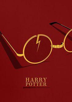 04d23ddb28f1e 75 Minimalist Movie Posters to Inspire You. Quadrinhos Harry PotterPôsteres  ...