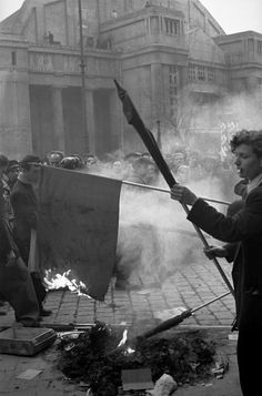 Erich Lessing - Budapest. 1956. The Hungarian Revolution began with a first mass-rally in Budapest on October 23,1956.