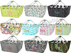 Collapsible Print Market Totes Large Size 20 by Chicmonkeybb, $32.95