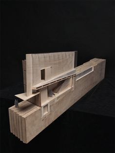 I love it when you can take models apart to explain interior spaces. Wellness Centerby Pavlo Kryvozub