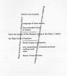 """Susan Howe, From """"Eikon Basilike,"""" 1993"""