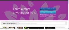 Khan Academy es una videoteca con más de 3.000 vídeos sobre una gran variedad de temas.