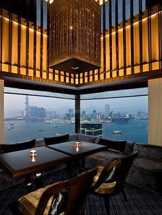 The Upper House, Hong Kong Restaurant Lighting, Restaurant Design, Chinese Restaurant, Upper House Hong Kong, Pacific Place, Restaurants, Wallpaper Magazine, Travel Wallpaper, Hotel Interiors