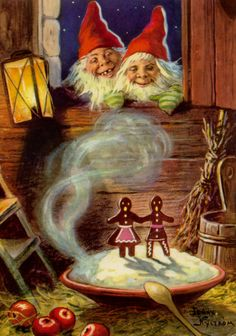 Gnomes with Gingerbread dreams - Jenny Nystrom