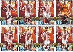 Match Attax 2015/2016 Stoke City Team Base Set Plus Star Player, Captain & Away Kit Cards 15/16 #stoke
