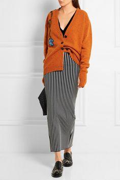 Christopher Kane | Stripes & Flowers stretch-jersey maxi skirt | NET-A-PORTER.COM