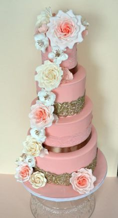 Pretty in Peach by Lady P's Cakery