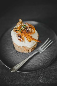 Honey Carrot Cakes with Roasted Walnuts