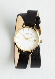 Olivia Burton Mind the Wrap Watch by Olivia Burton - Black, Gold, Solid, Special Occasion, Wedding, Graduation, Bridesmaid, Bride, Luxe, Statement, Minimal, Best, International Designer