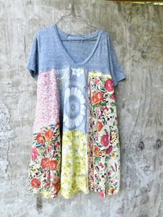 Upcycled Dress Patchwork Dress Upcycled Ladies by CreoleSha