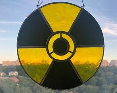 Items similar to Radiation Sign Symbol / Stained Glass / Chernobyl / Suncatcher / Window Hanging / Sun Catcher for Window / Radioactive / Fallout / Postapo on Etsy Nuclear Disasters, Nuclear War, Window Hanging, Chernobyl, Sun Catcher, Colored Glass, Feng Shui, Stained Glass, Symbols