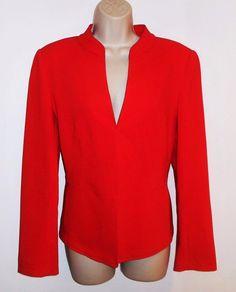 Lafayette 148 New York 6 S Stretch Wool Blazer Red Jacket Career #Lafayette148NewYork #Blazer #Career